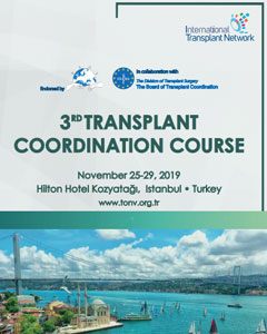 25 – 29 November 3rd International Training Course in Transplant Coordination